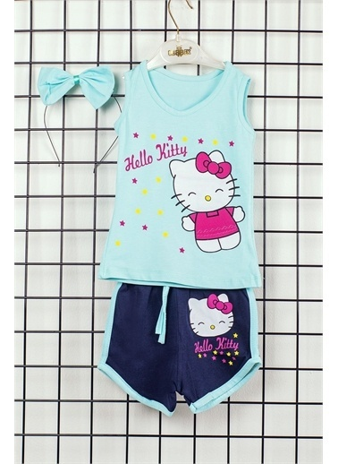 Pelops Kids Hello Kitty Kız Çocuk 2'li Alt Üst Takım Fuşya